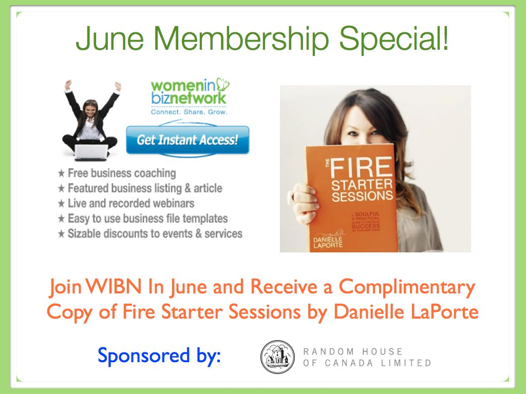 WIBN Membership Special with Danielle LaPorte and Random House