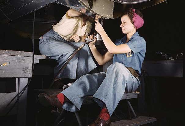 women-on-bomber