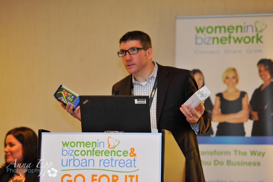 brendan at microsoft has prizes to give at wibn conference