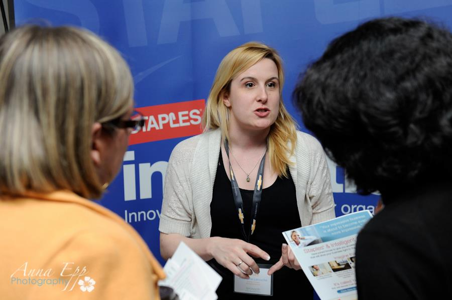 staples canada booth at wibn conference