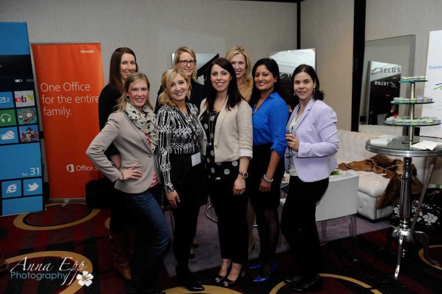 the fantastic telus ladies at the women in biz conference