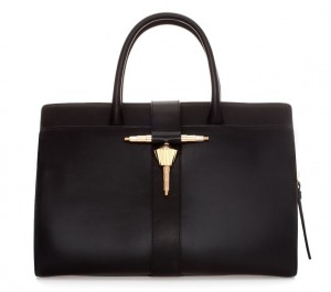 zara leather bag with metal tab