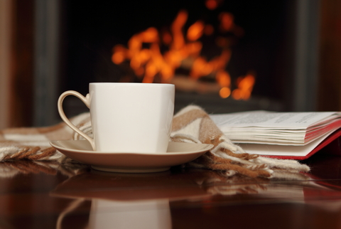 fireplace-tea-books