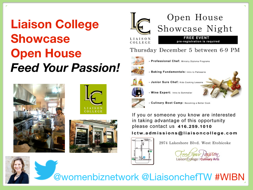 Feed Your Passion: Liaison College Toronto West Open House @ Liasion College West Campus | Toronto | Ontario | Canada