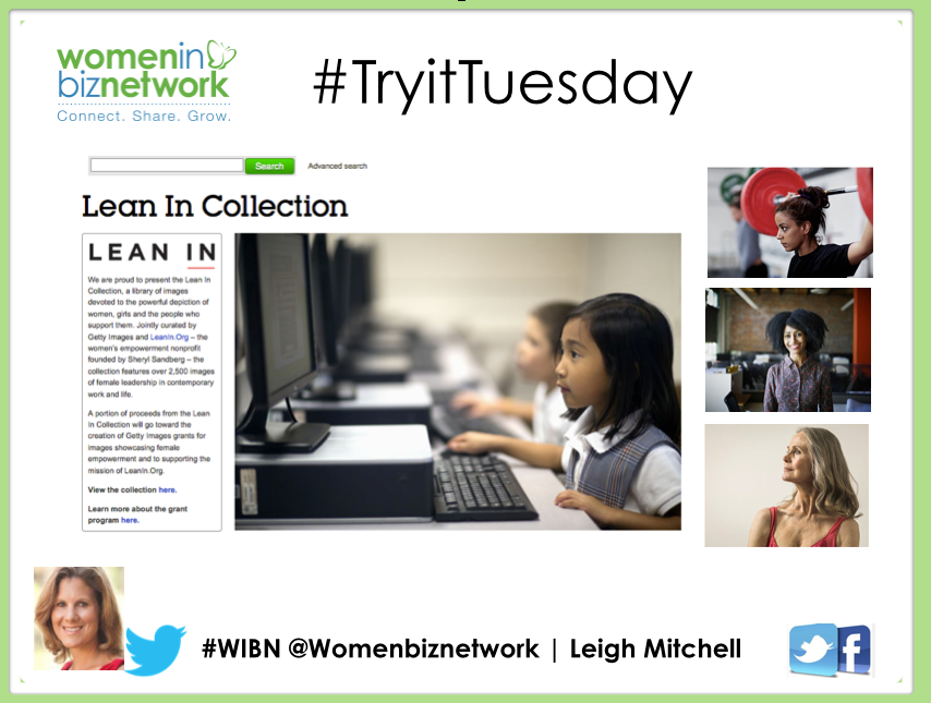tryittuesday - Lean In  Photography that is not sexist and powerful